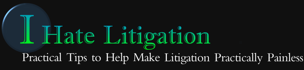 I Hate Litigation